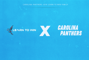 Carolina Panthers and Learn to Win logo graphic