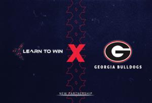 Georgia Bulldogs and learn to win logo graphic