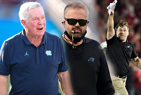 Football Coaches - Mack Brown, Matt Rhule