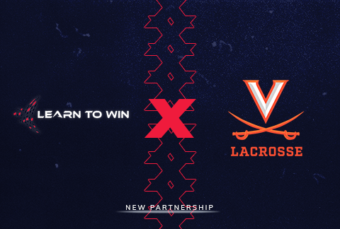uva lacrosse and learn to win logos