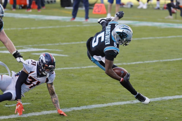 Teddy Bridgewater of the Carolina Panthers runs for a touchdown