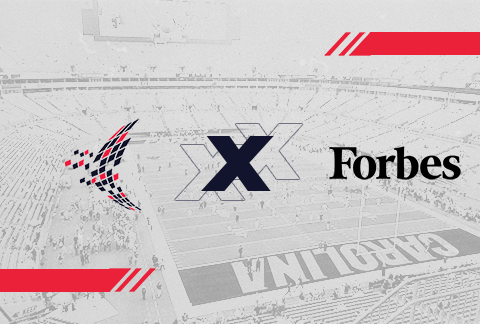 learn to win and forbes logo with football stadium background